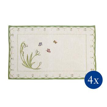 Colourful Spring salvamanteles de tapiz con motivo de galanthus, 32 x 48 cm, 4 unidades