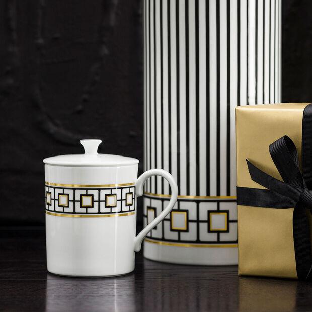 MetroChic Gifts Tazza con coperchio 11,5x8,5x11cm, , large