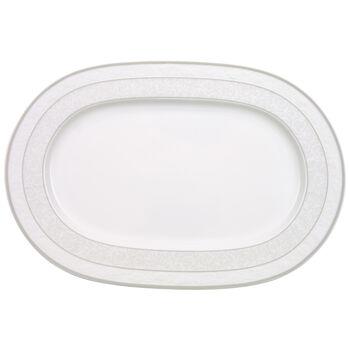 Gray Pearl piatto ovale 35 cm