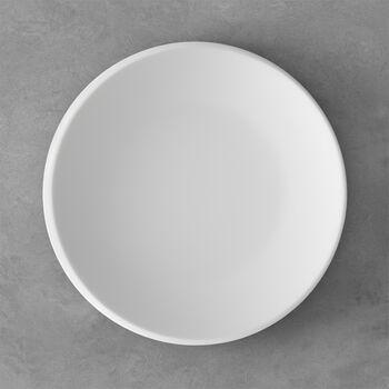 NewMoon plato llano, 27 cm, blanco