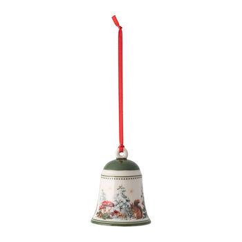 My Christmas Tree campana con motivo de ardillas, 5,5 x 5,5 x 6,9 cm