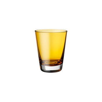 Colour Concept vaso de agua, vaso largo o vaso para cócteles de color ámbar de 108 mm