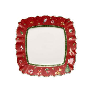 Toy's Delight piatto da colazione quadrato, rosso/multicolore, 24 x 24 cm