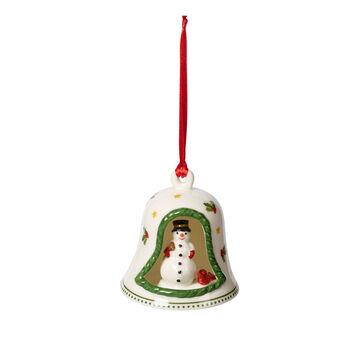 My Christmas Tree campana con figura de muñeco de nieve, varios colores, 6 x 6 x 7cm