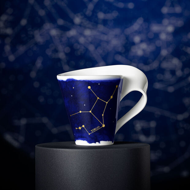 NewWave Stars taza con motivo de Virgo, 300 ml, azul/blanco, , large
