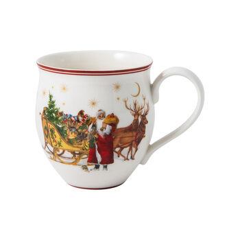 Toy's Delight tazza con manico, Babbo Natale con slitta, multicolore/verde/rossa, 340 ml