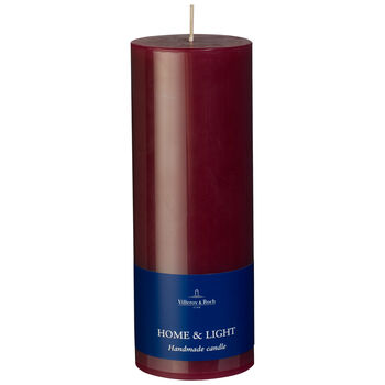 Essentials Candela Red Blum Pillar 7x19 7x19cm