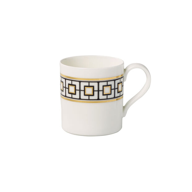 MetroChic tazza grande da caffè, 11 x 8 x 9 cm, bianco-nero-oro, , large