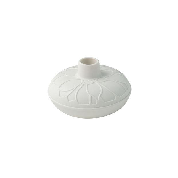 it's my home portacandele Socculent, 12x7 cm, bianco, , large