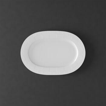 White Pearl piatto ovale 35cm