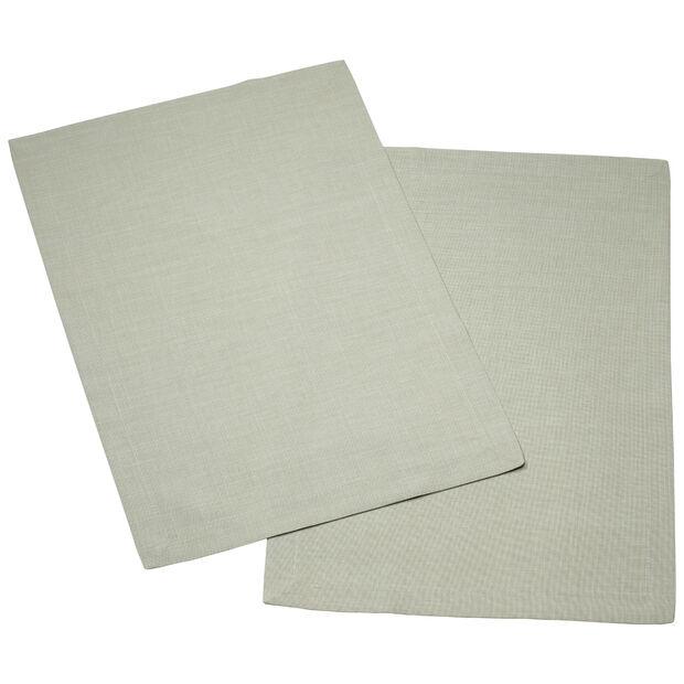 Textil Uni TREND Salvamanteles fog green Set 2 35x50cm, , large