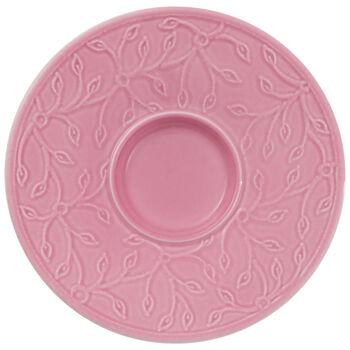 Caffè Club Floral Touch of Rose plato de taza de moca/espresso