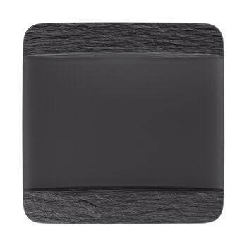 Manufacture Rock piatto piano quadrato, nero/grigio, 28 x 28 x 2 cm
