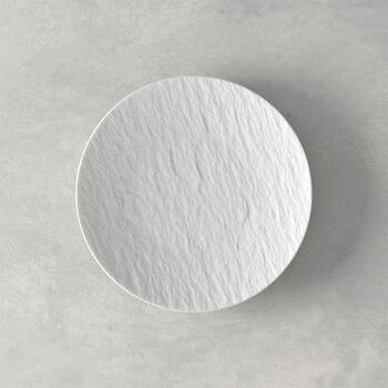 Manufacture Rock blanc Piatto pane 15,5x15,5x2cm