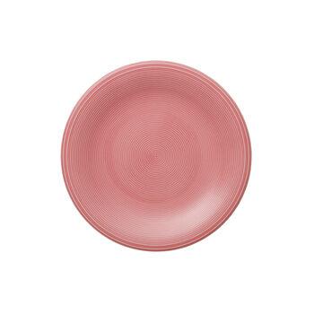 Color Loop Rose piatto da colazione 21x21x2cm