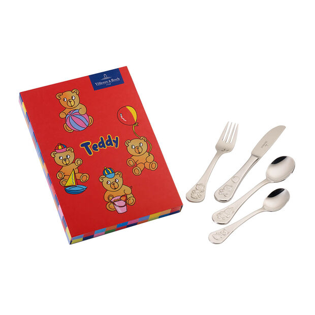 Teddy posate per bambini 4 pz. 21,5x15x2,5 cm, , large