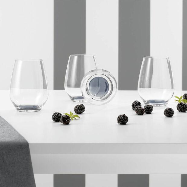 Colourful Life Cosy Grey set di bicchieri da cocktail/acqua 4 pezzi, , large
