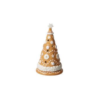 Winter Bakery Decoration árbol pequeño de pan de jengibre, marrón/blanco, 8 x 8 x 15cm