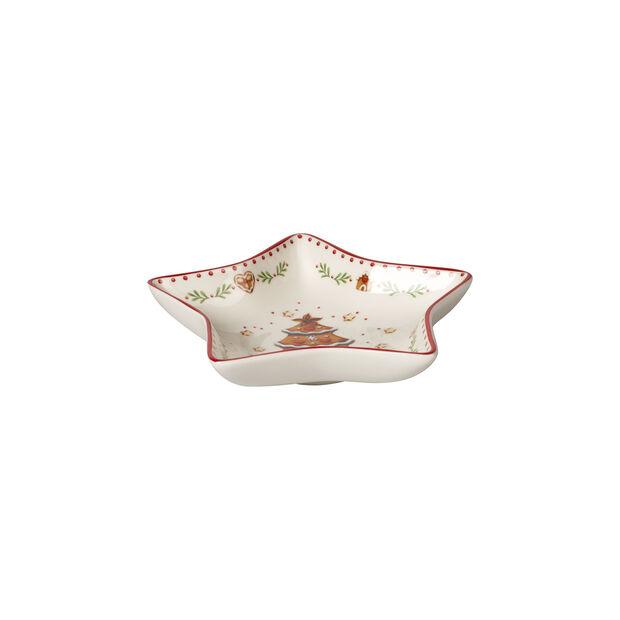 Winter Bakery Delight ciotola a stella piccola, motivo pan di zenzero, rosso/multicolore, 13 cm, , large