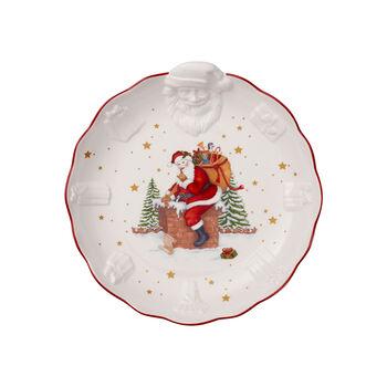 Toy's Fantasy fuente en relieve con motivo de Papá Noel, blanco/varios colores, 24 x 25 x 4,6 cm