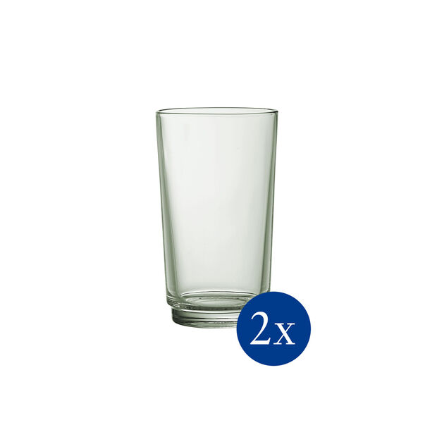 like.by Villeroy & Boch it's my match set di bicchieri da long drink, serie Mineral, verde, 8 x 14 cm, 2 pezzi, , large