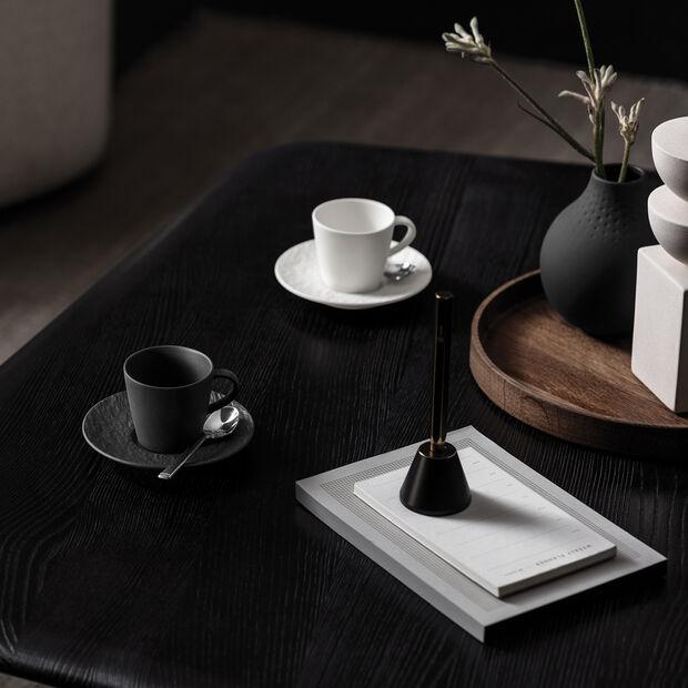Manufacture Rock piattino per tazzina da espresso, nero/grigio, 12 x 12 x 2 cm, , large