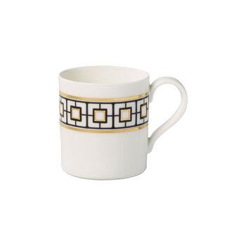 MetroChic tazza grande da caffè, 11 x 8 x 9 cm, bianco-nero-oro