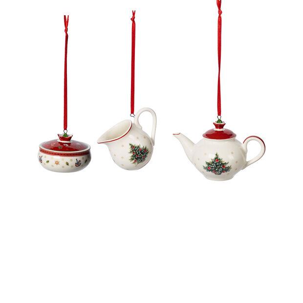 Toy's Delight Decoration Ornamentos juego café 3 pzas. 6,3cm, , large