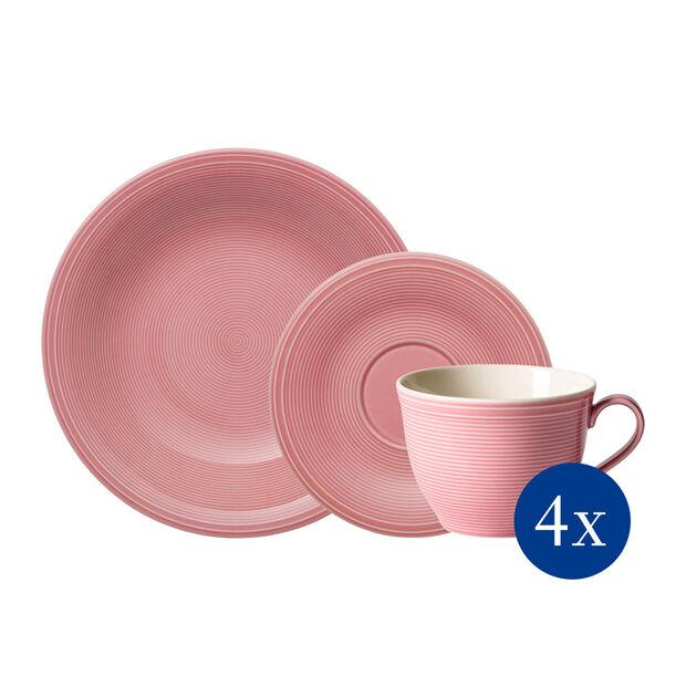 Color Loop Rose set de café, rosa, 12 piezas, , large