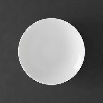 MetroChic blanc plato hondo, diámetro de 20 cm, profundidad de 5 cm, blanco