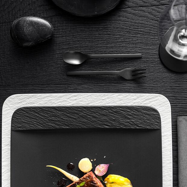 Manufacture Rock Blanc piatto da portata/piatto da gourmet quadrato, bianco, 32,5 x 32,5 x 1,5 cm, , large