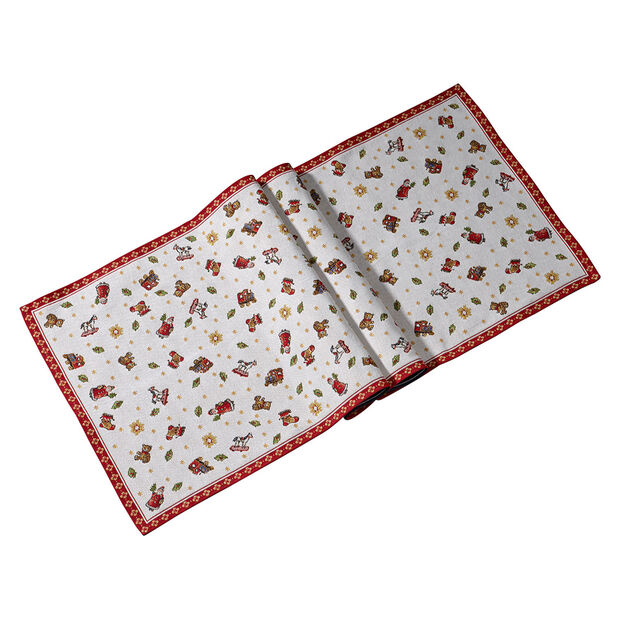 Toy's Delight runner gobelin XL, rosso/multicolore, 49 x 143 cm, , large