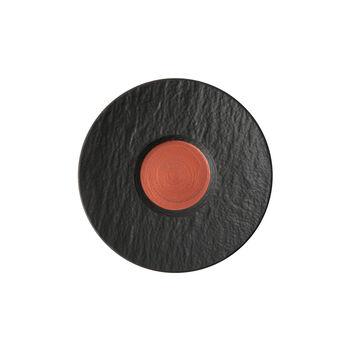Manufacture Rock Glow piattino per tazza da caffellatte, rame/nero, 17 x 17 x 2 cm