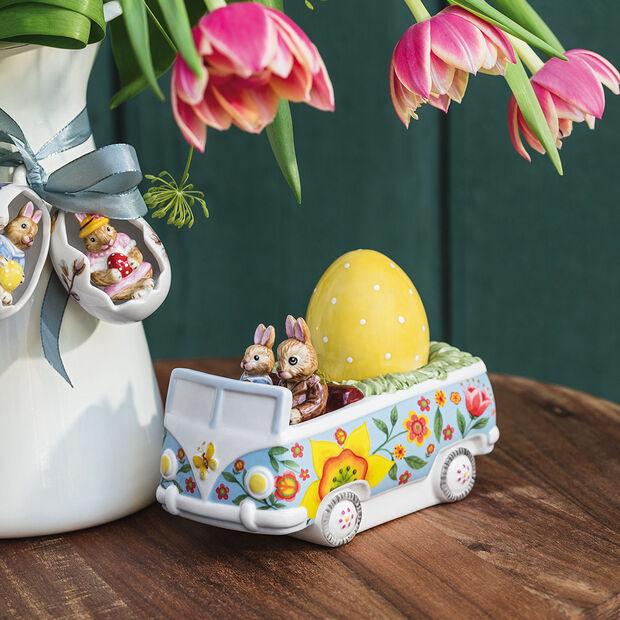 Bunny Tales figura con motivo de autobús, varios colores, , large