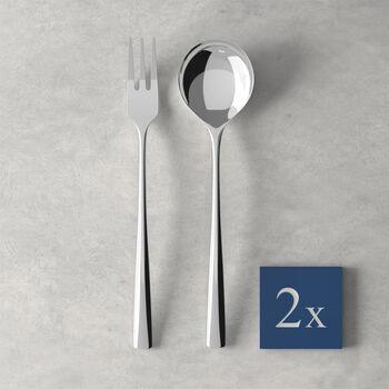 Daily Line Specials set per spaghetti, 4 pezzi, 2 cucchiai, 2 forchette 265x85x30 mm