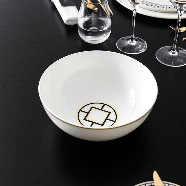 MetroChic insalatiera rotonda, diametro 23 cm, bianco-nero-oro, , large