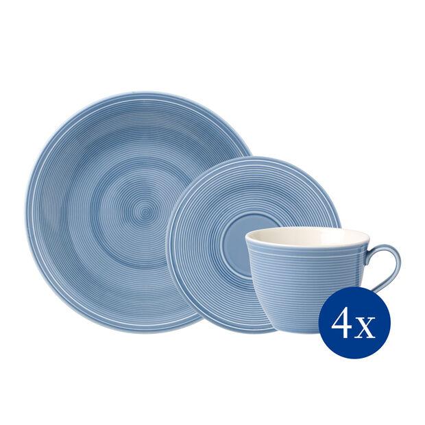 Color Loop Horizon set de café, azul celeste, 12 piezas, , large