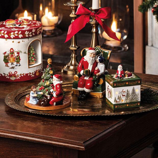 Christmas Toys Pacchetto regalo picc. quad., Babbo Nat. 9x9x13cm, , large