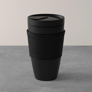 Manufacture Rock Coffee To Go tazza mug da viaggio, 350 ml, nero opaco