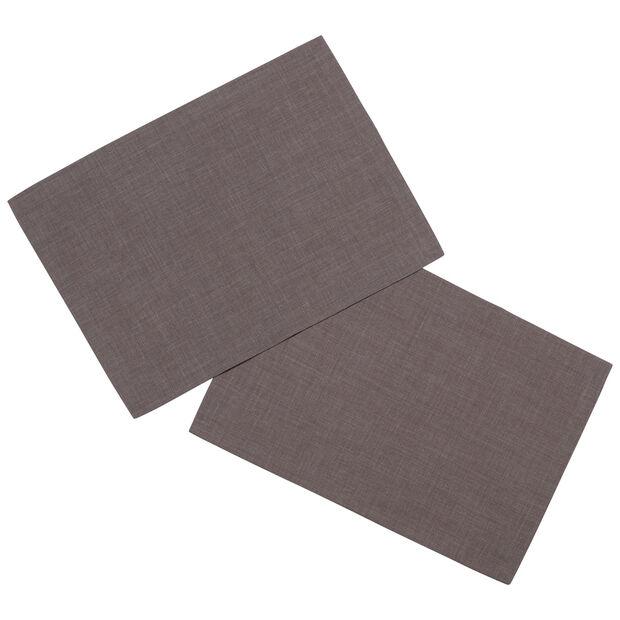 Textil Uni TREND Tovaglietta, 2 pezzi, grafite, 35x50cm, , large