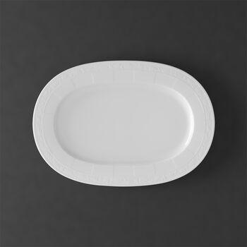 White Pearl piatto ovale 41 cm