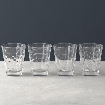 Dressed Up set di bicchieri da acqua Clear 4 pezzi