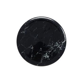 Marmory piatto da colazione nero 21 x 21 x 1,5cm