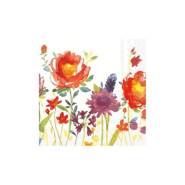Servilletas de papel Anmut Flowers, 20 unidades, 33x33cm, , large