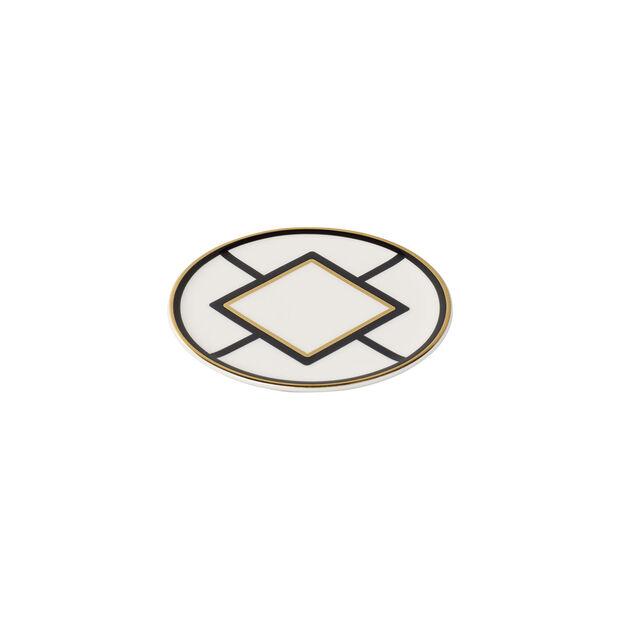 MetroChic sottobicchiere, diametro 11 cm, bianco-nero-oro, , large