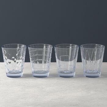 Dressed Up set di bicchieri da acqua Blue 4 pezzi
