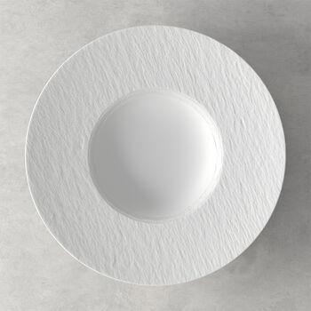 Manufacture Rock blanc Piatto pasta 28x28x5cm