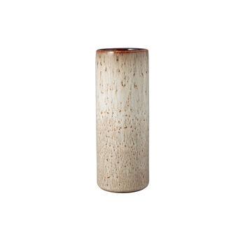 Lave Home jarrón Cylinder, 7,5x7,5x20cm, beige