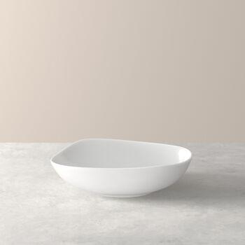Organic White piatto fondo, bianco, 20 cm
