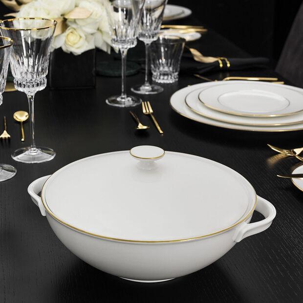 Anmut Gold terrina, bianco/oro, , large